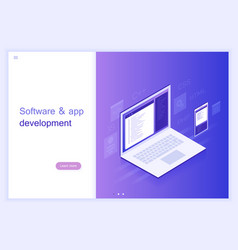 Concept software and app development vector