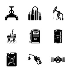 Conduit icons set simple style vector