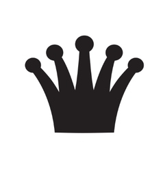 Crown black and white logo royal symbol vector