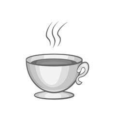 Cup of tea icon black monochrome style vector image