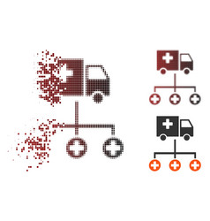 Dispersed pixel halftone medical delivery vector