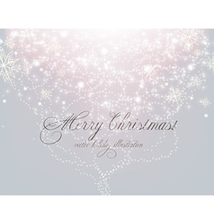 Elegant White Christmas Background vector