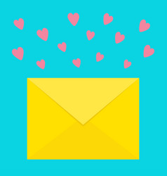 email icon yellow paper envelope love letter vector image