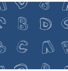 English alphabet seamless pattern vector image