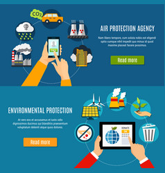 Environmental protection banners set vector