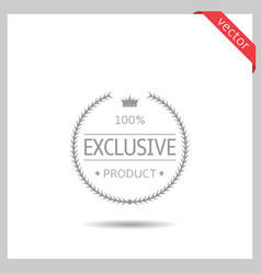 exclusive product icon vector image