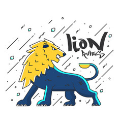 flat designed lion vector image