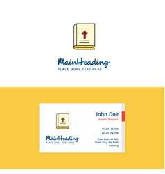flat holy bible logo and visiting card template vector image