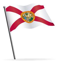 florida fl flag waving on flagpole vector image