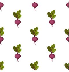 fresh organic purple sweet beet seamless pattern vector image