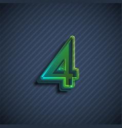Glassy 3d font character vector