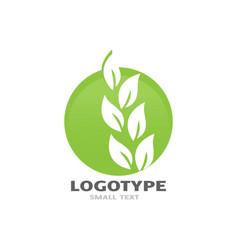 go green logo design vector image