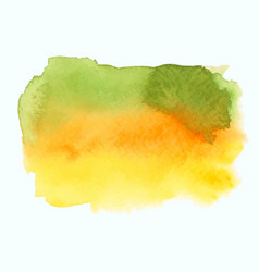 Green and yellow watercolor gradient banner vector