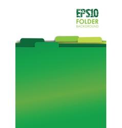 Green folders vector