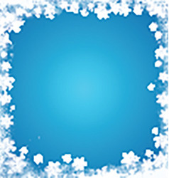 grunge snowflake border 3110 vector image