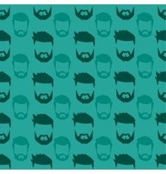 Hairstyle beard seamless pattern vector