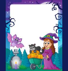 Halloween theme frame 4 vector