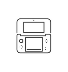 Handheld game console outline icon vector