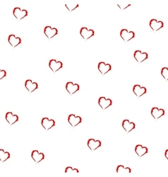 Heart red seamless pattern vector