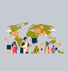Indian people using global payment application vector
