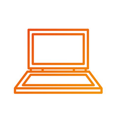 laptop device technology equipment gadget vector image