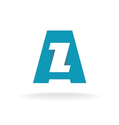 Letters A and Z logo vector image