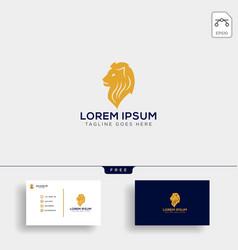 Llion business financial logo template vector