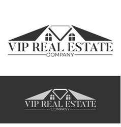 Luxury real estate logo vector
