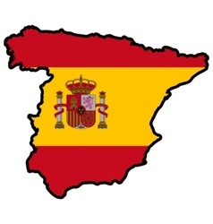 Map in colors of Spain vector