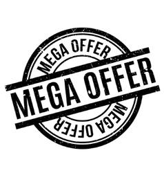 Mega Offer rubber stamp vector
