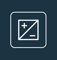 mode icon line symbol premium quality isolated vector image