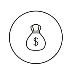 money bag with dollar icon vector image