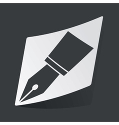 Monochrome ink pen nib sticker vector