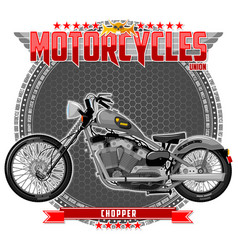 motorcycle of a certain type vector image