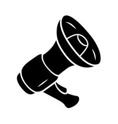 mouthpiece glyph icon megaphone bullhorn vector image