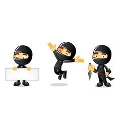 Ninja 1 vector image vector image