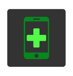 Online Help Flat Button vector image