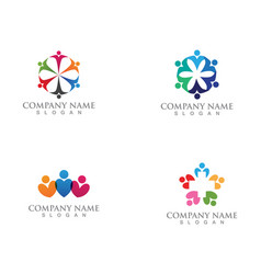 People care logo and symbols template app vector