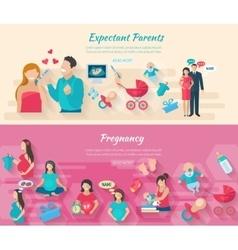 Pregnancy Banner Set vector