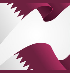 Realistic 3d detailed qatar flag background vector