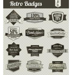 retro badges vector image