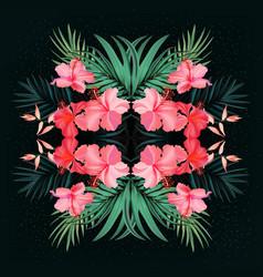 royal palm hand drawn tropical jungle realistic vector image