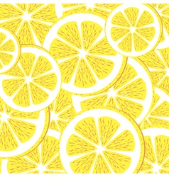 Seamless lemon pattern vector image