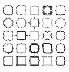 Set of black different styles line frame works vector
