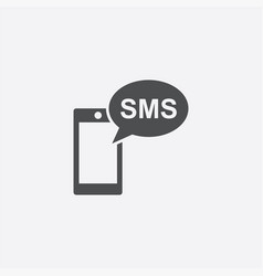 Smartphone sms icon vector