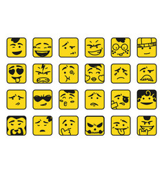 Smiles set of emoticons or emoji vector