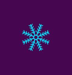 Snowflake silhouette winter symbol vector
