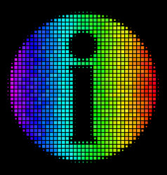 Spectrum dotted info icon vector