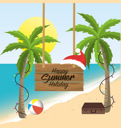 summer merry christmas holidays vacation vector image
