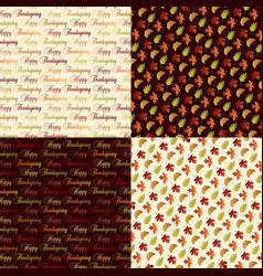 Thanksgiving patterns vector